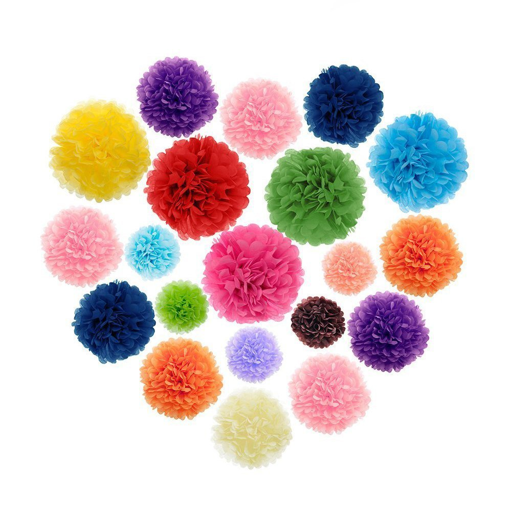 Party Decoration Paper Pom Poms Paper Flower