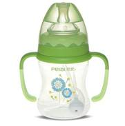 160ml Wide-neck pattern feeding bottle with handle (dual color)
