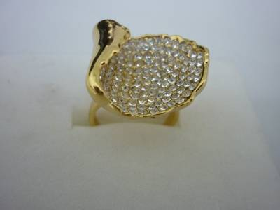 arrival/factory outlet/fashion ring/color diamond ring/golden ring