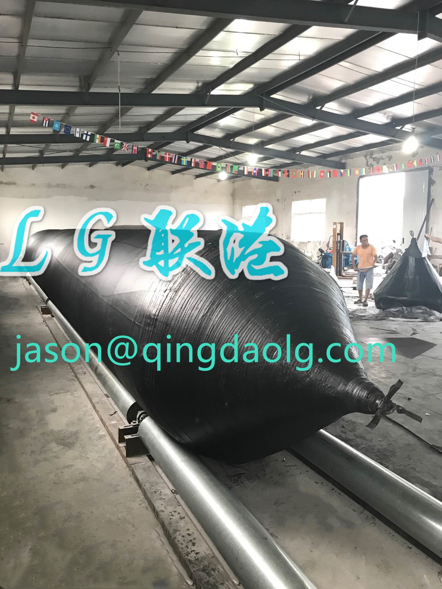 Customized ship launching marine airbags