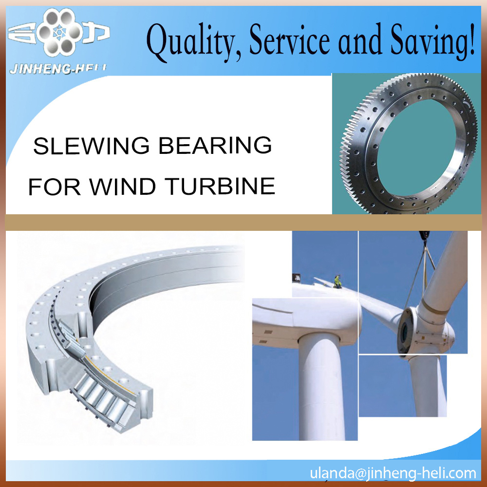 Ball slewing bearings internal gear four point contact for wind turbine
