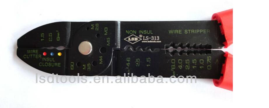 Multi-functional Crimping Plier LS-313, crimping ,stripping , cutting in one plier multi purpose cri