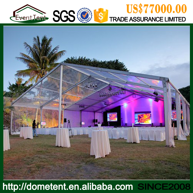 Clear Roof Wedding Party Tent Design With Dance Floor