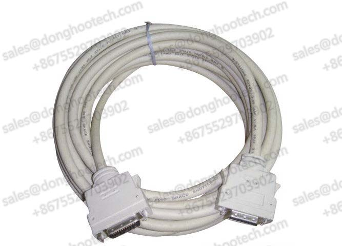 Beige Latch Type Camera Link Cable MDR Male 26pin Metal Backshell with Latches OEM Machine Vision High Speed Cables