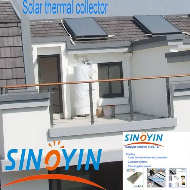 Split solar thermal water heater of 300 liter enamel tank