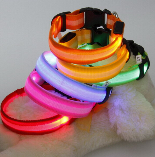 woven with LED dog /pet collar