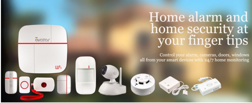 2017 New Wireless Wifi Home Security Alarm System with Video Monitor