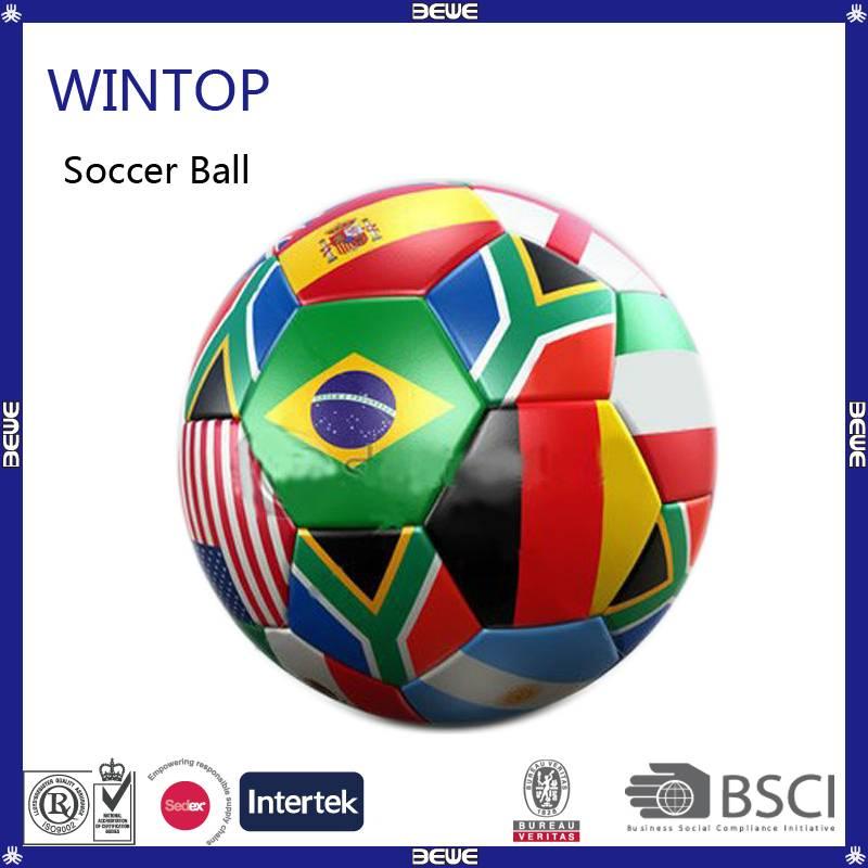 Wholesale price bulk good quality country flag soccer ball