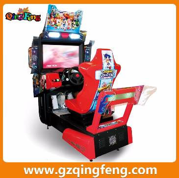 Qingfeng coin operated car driving simulator  racing car machine