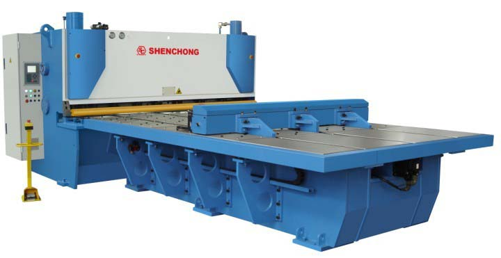 Hydraulic CNC front feeding guillotine shear machine 6mmx3100mm for metal fabrication