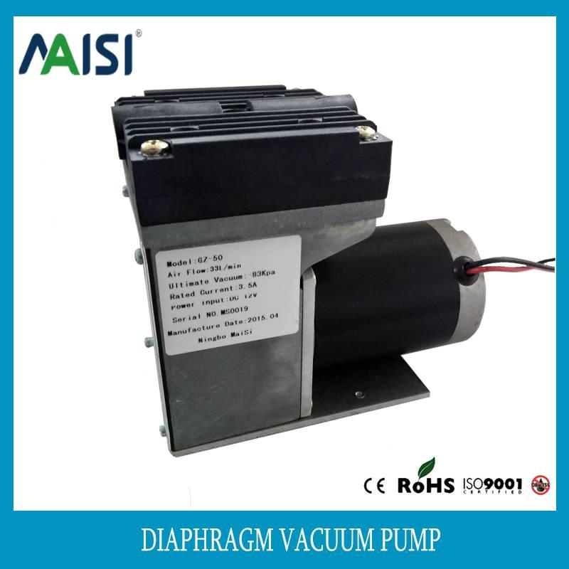 50W oil free diaphragm air pump vacuum pump