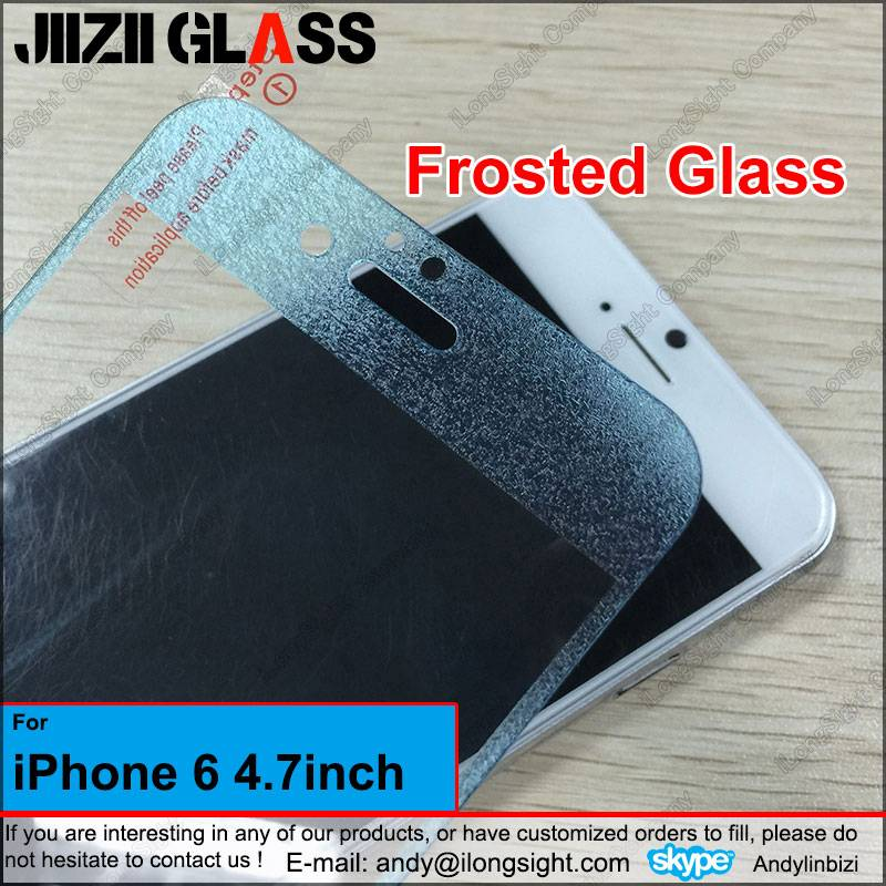 Jiizii Glass 2016 Frosted Glass Pattern Explosion-proof Tempered Glass Screen Protector for iPhone 6