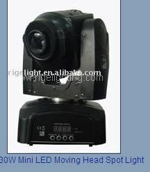 30W Mini LED Moving Head Spot Light