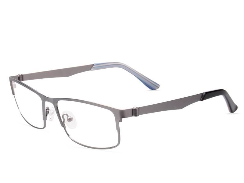 Fashion design flexible super light weight stainless steel metal optical frame JC8028