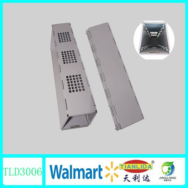 Metal live rodent trap box with folding design JL3006