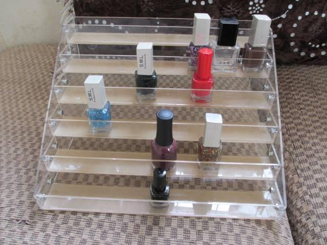 acrylic single tier nail polish oil rack,plaid pavans nail polish oil display rack