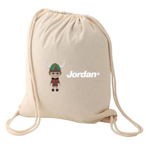 plain white thick quality cotton backpack bag wholelsale