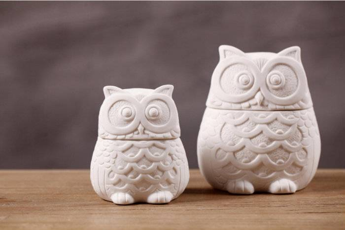 creative home furnishing Animal ceramic ornaments piggy owl crafts jewelry box