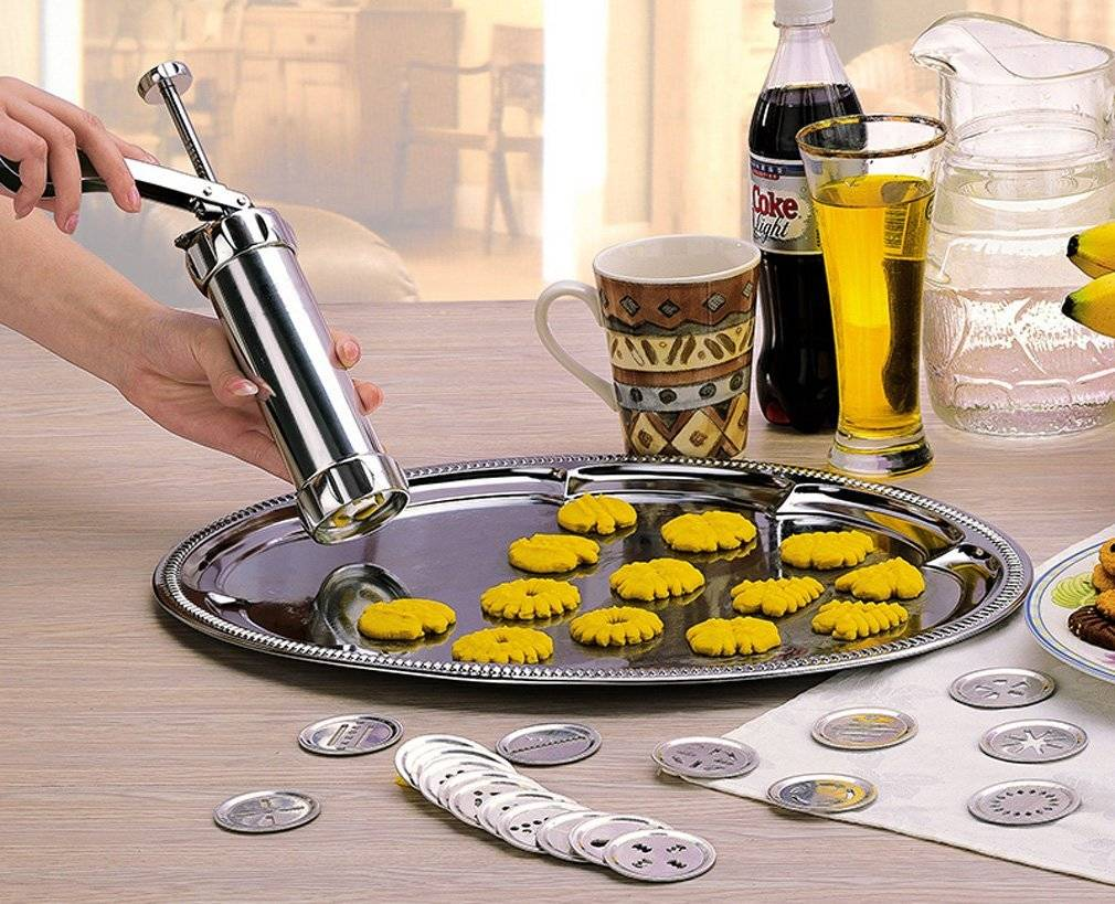 Aluminum Alloy Cookie Press with 20 Disks and 4 Icing Tips