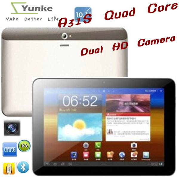 tablet pc 10.1 bluetooth Dual Camara Android 4.2 Allwinner A31S Quad Core 6GB with Wifi tablets
