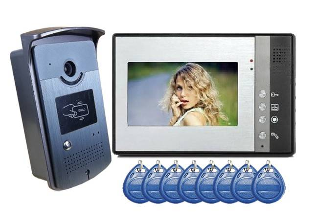 7inch Wired Video Door Phone with Card Reading Function