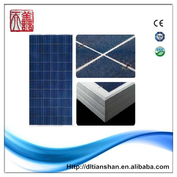 New design 100w solar panel with certificate CE CEC TUV