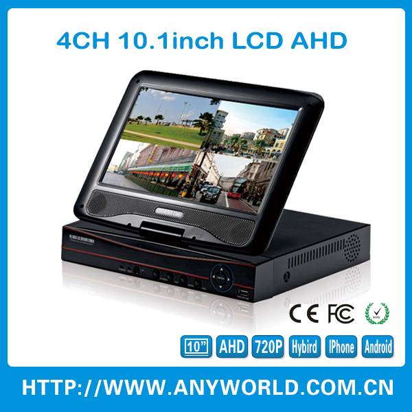 2015 safety equipment 10.1 inch AHD DVR for CCTV SYSTEM