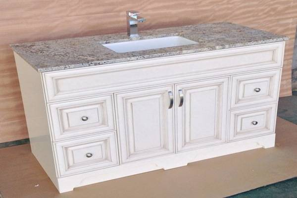 American and Canadian solid wood vanity