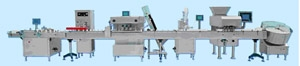 tablet coutning filling and sealing packing line of pharmaceutical packaging machinery