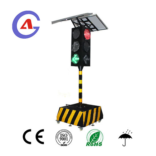 Four Way Solar Powered Wireless Traffic Light System for crossing traffic control