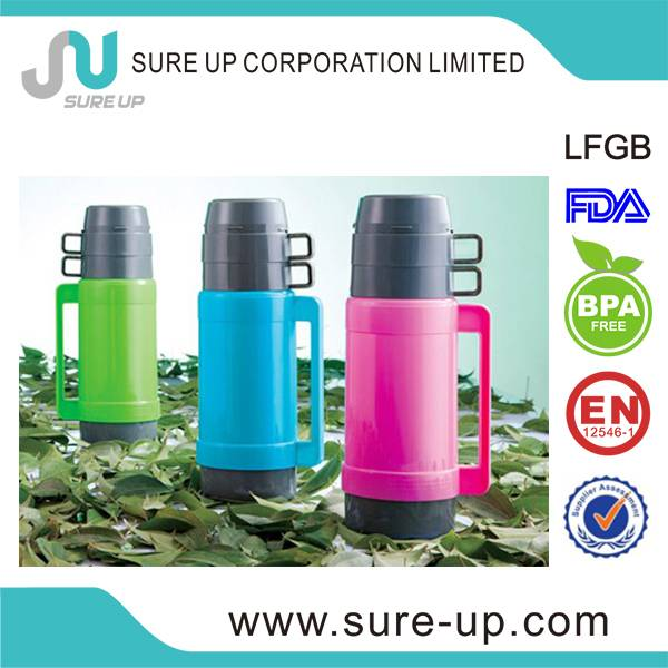 Plastic outer body vacuum thermos flasks for coffee (FGUC)