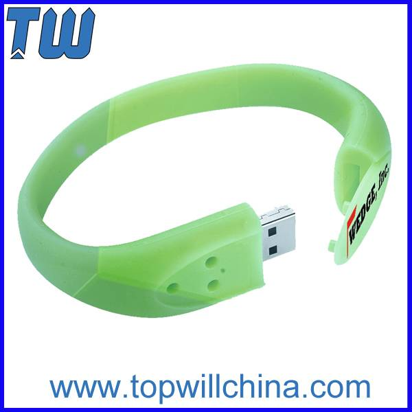 Silicon Wristband with Buckle 16GB Pen Drive for Children Gift