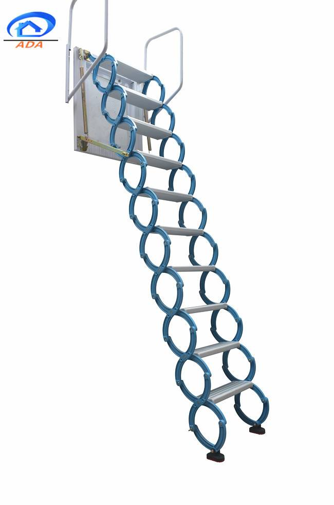 small space wall hanging platform collapsible ladder