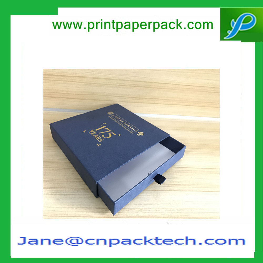 Fancy Paper Box OEM Printed Lid with tray Box Drawer-type Gift Box