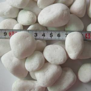 snow white pebble stone