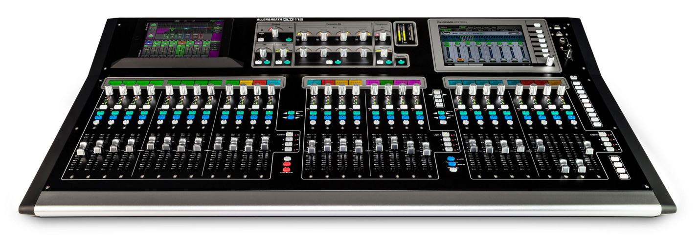 GLD2-112 28-Fader Digital Mixer - Chrome Edition