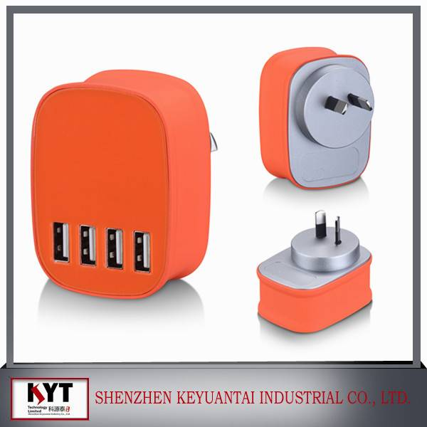 portable multiple usb charger 4 port usb charger with smart IC