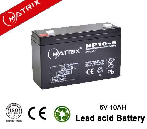 6V 10AH vrla battery for led light