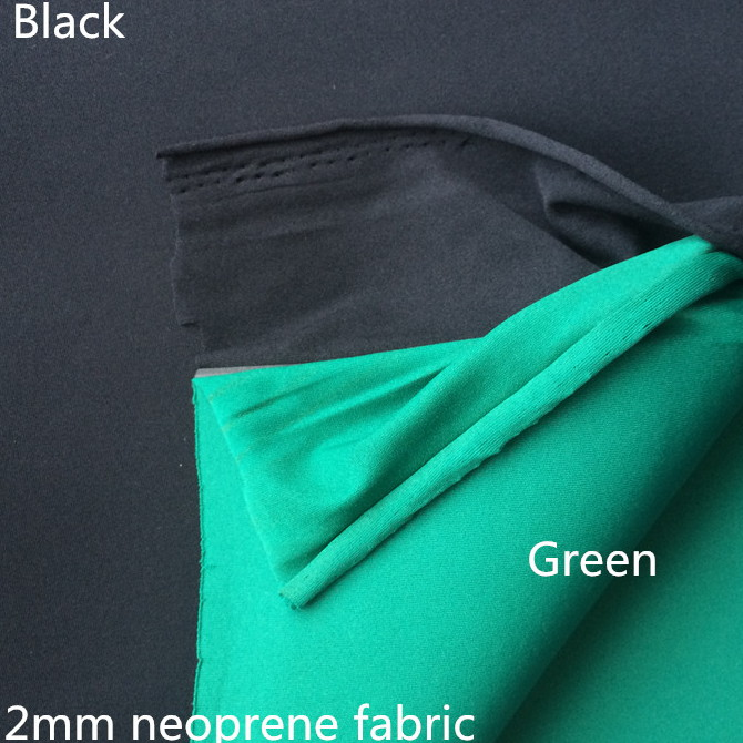 Two colors neoprene fabric different color black green 2mm black neoprene fabric material poly neopr