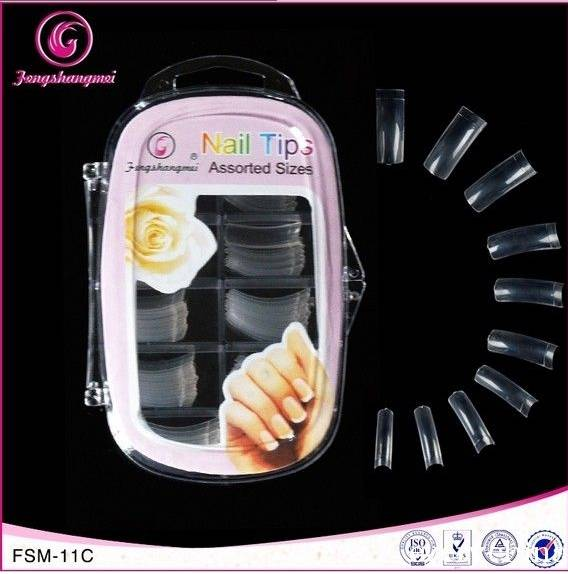 100pcs nail tips with plastic box