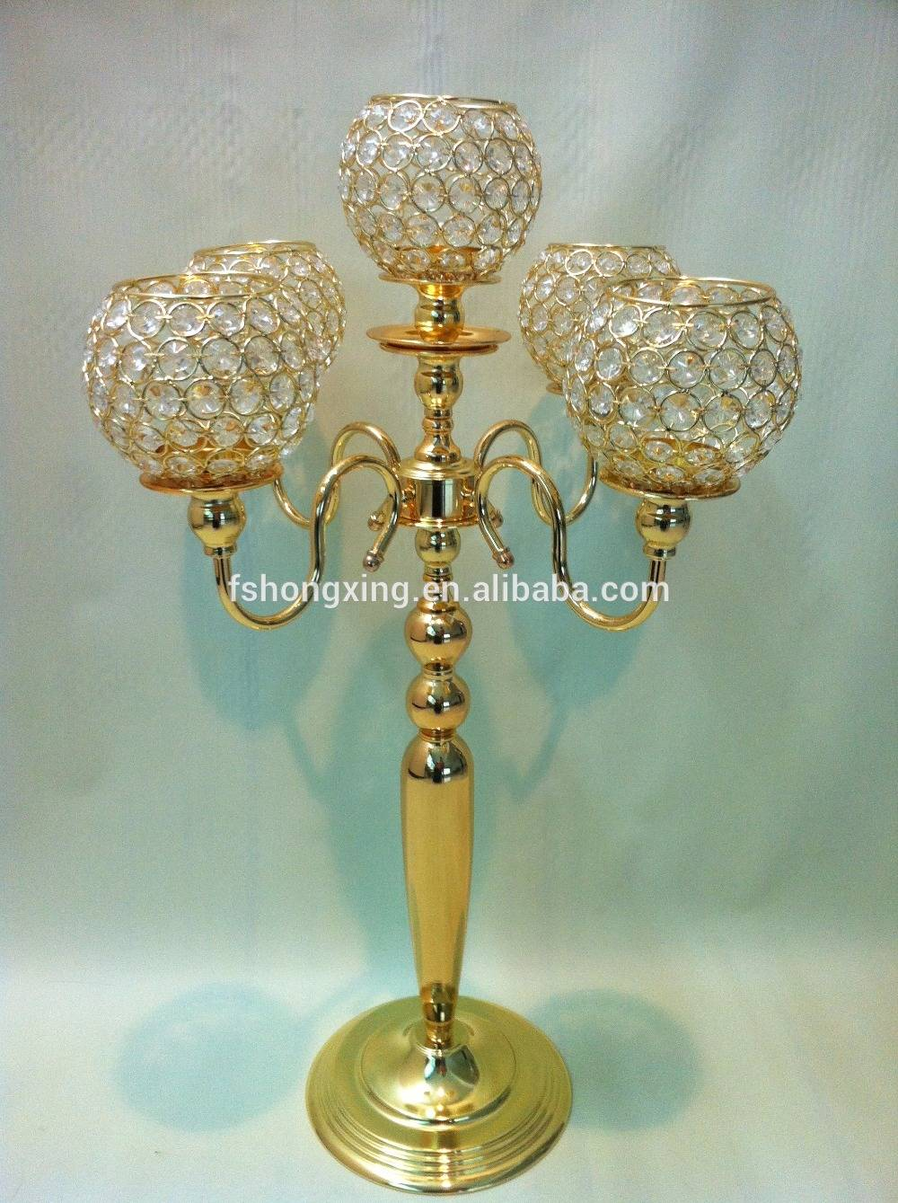 High quality Desktop decoration for table top wedding candelabra flower bowl centerpieces