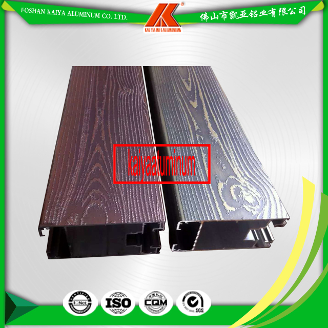 Aluminum Profile Wood Grain Door