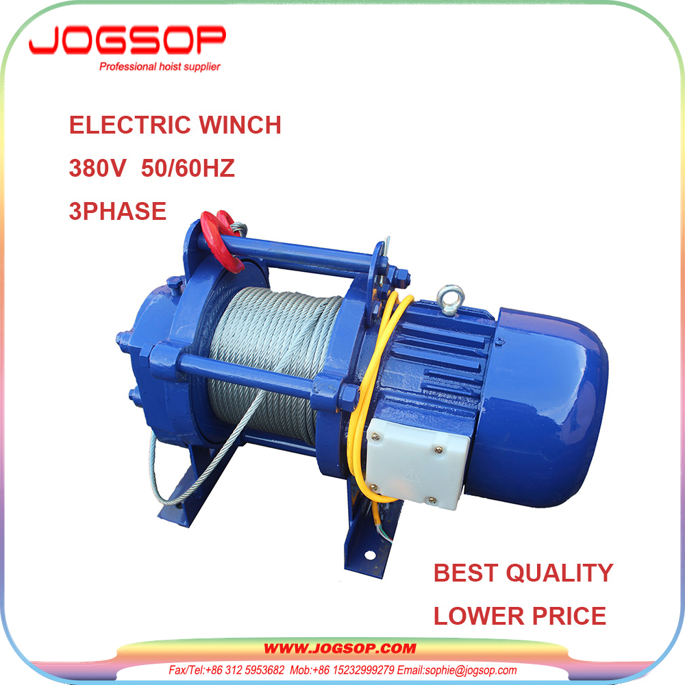 Small Light Duty Electric Winch Cable Pulling Electric Winches