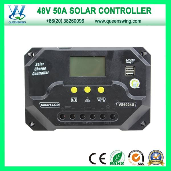 48V 50A Solar Regulator Solar Charge Controller with USB (QWP-VS5048U)