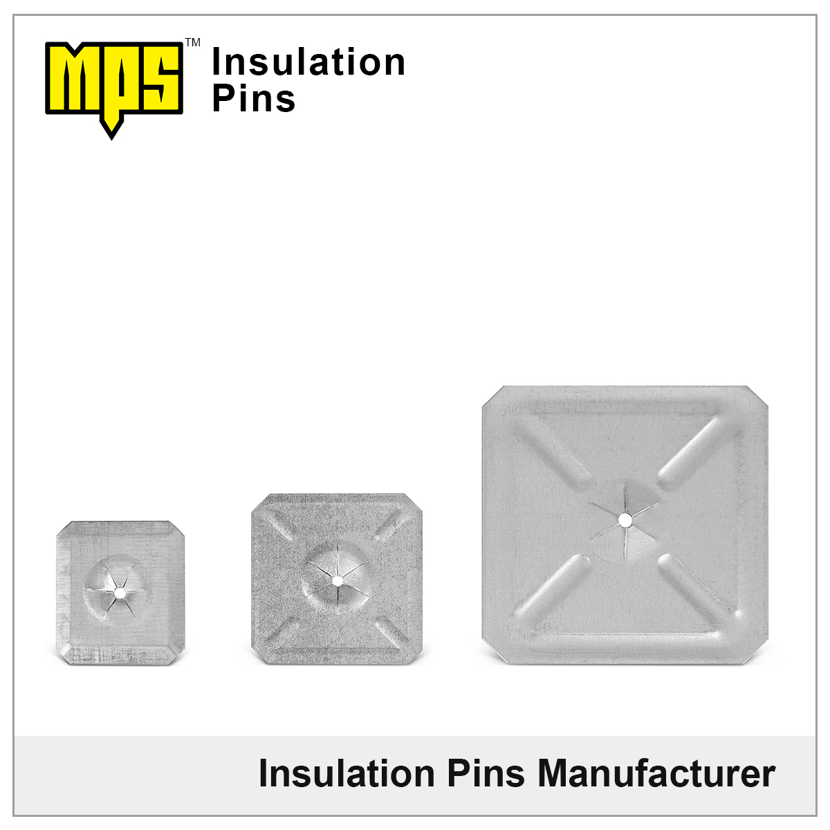 insulation pins' self locking washers