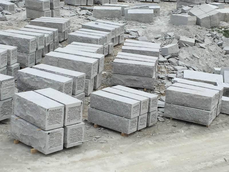 G341 granite wall stone blocks