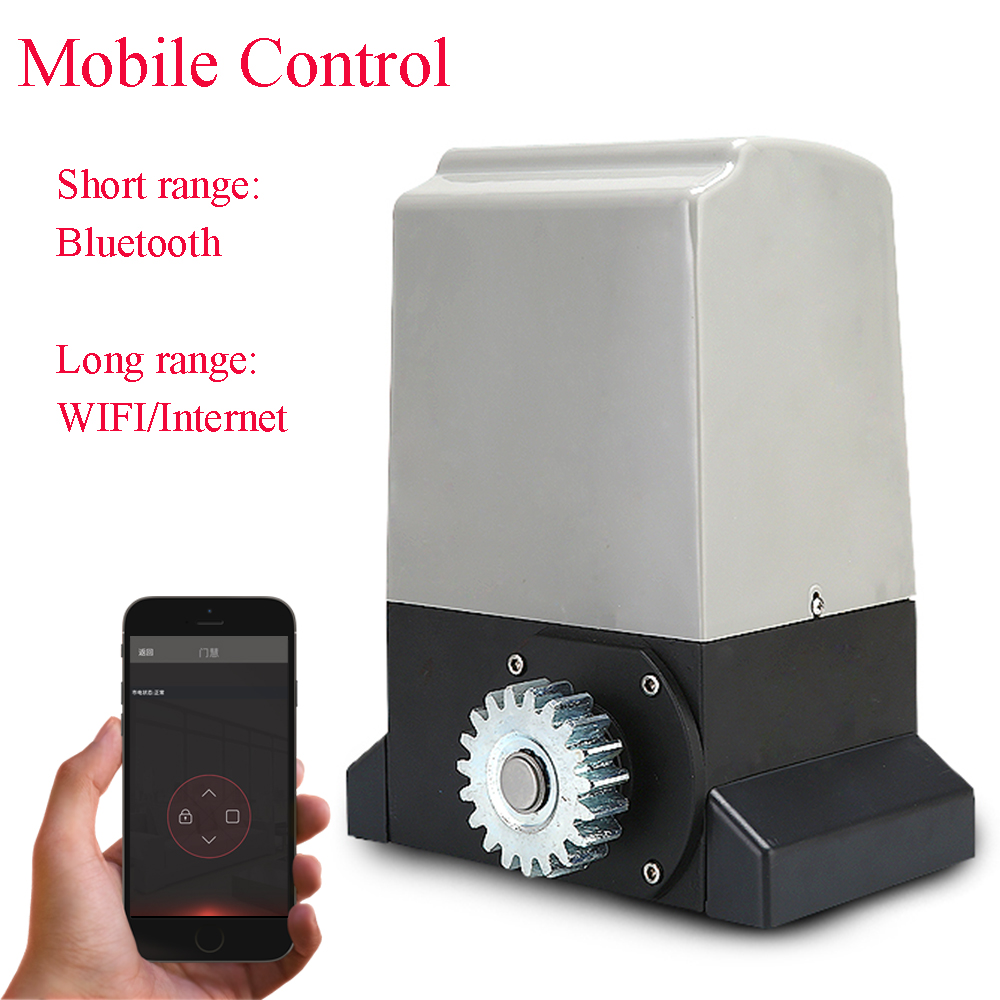 Sliding gate motor with bluetooth control