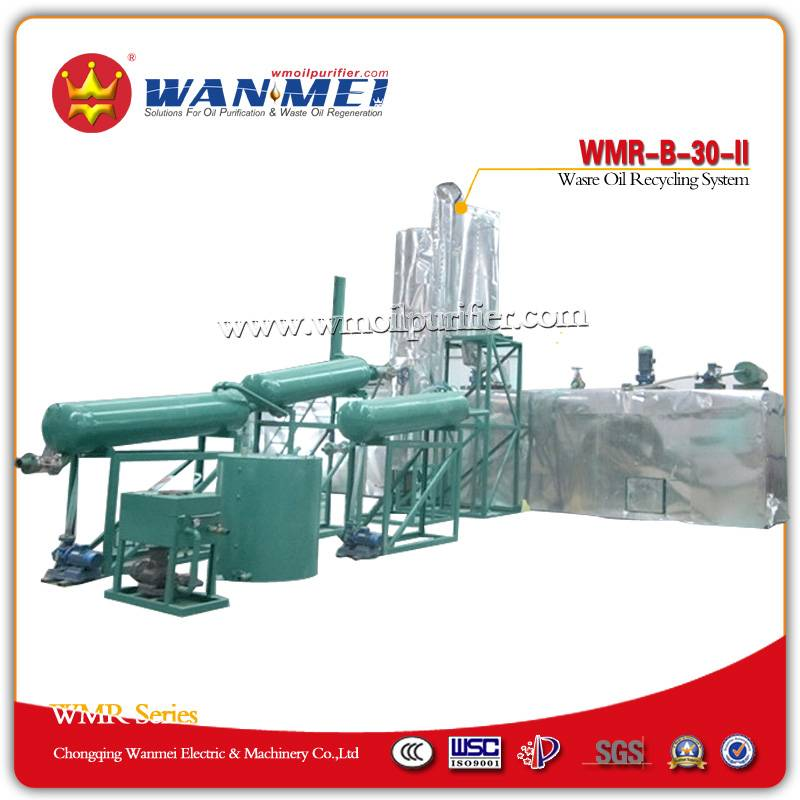 Used Oil Recycling System with Vacuum Distillation Process - WMR-B series