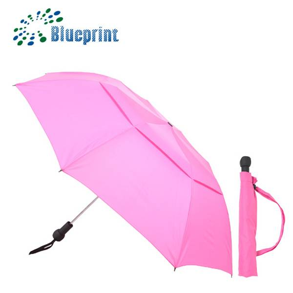 auto open double layers windproof 2 fold umbrella