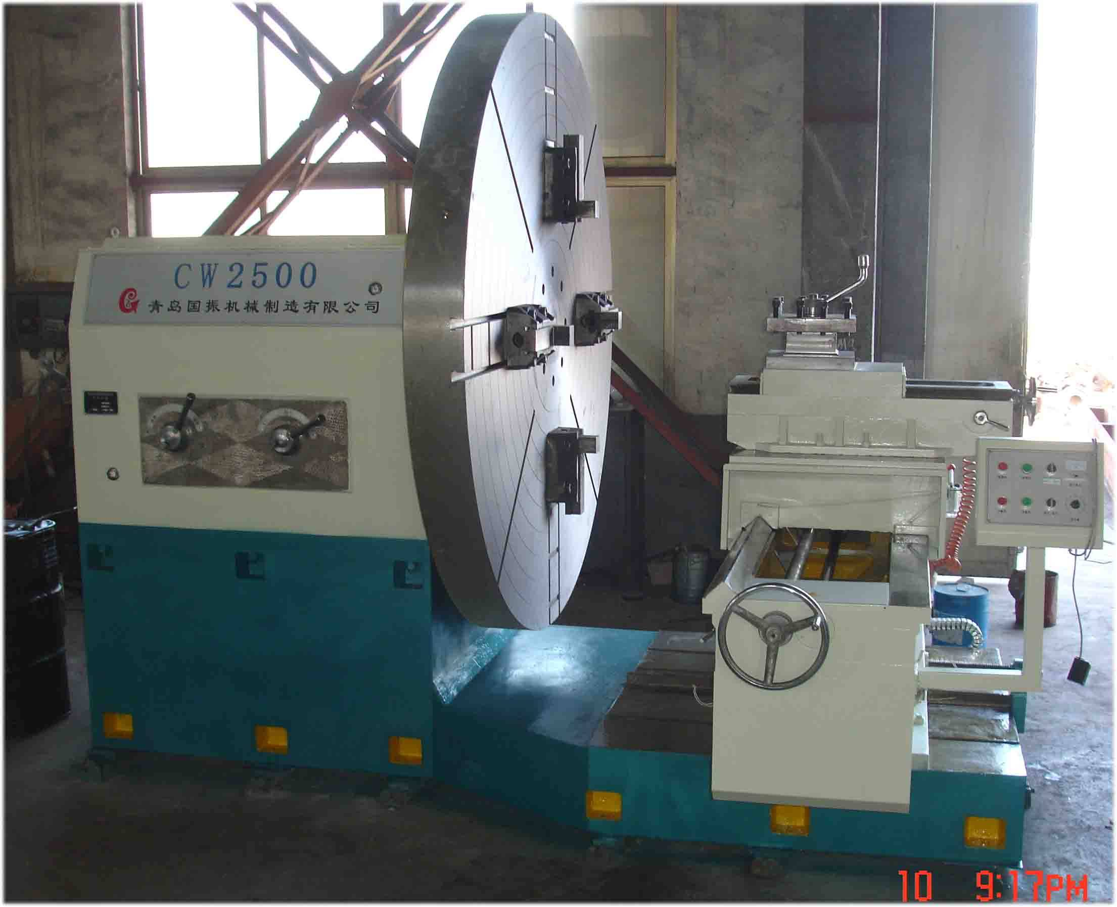 New! China Swing Diameter 2500 mm Flange Plate Ring Parts Turning Heavy Duty End Face Lathe Machine